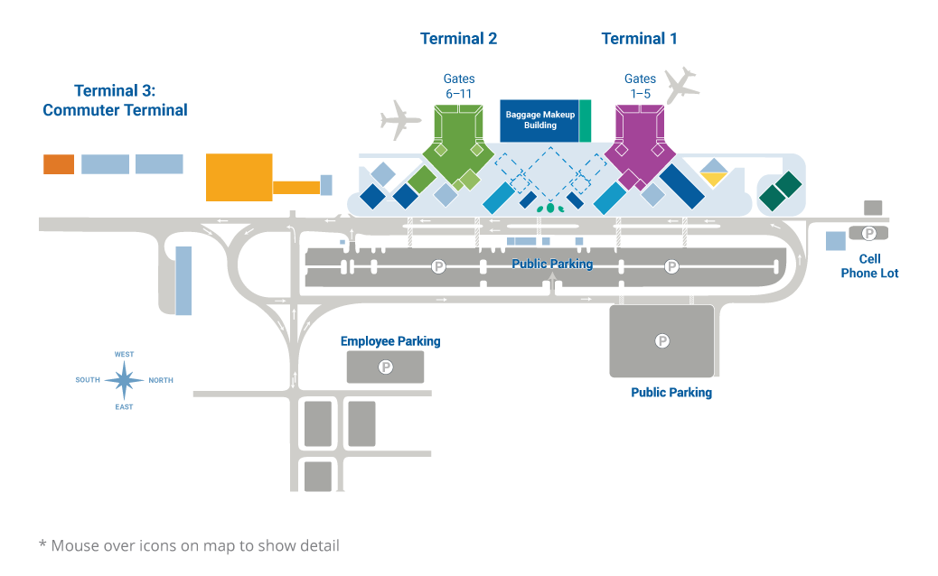 Airport Interactive Map on